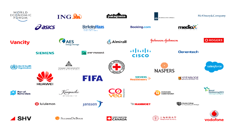Some companies that work with THNK for leadership programs